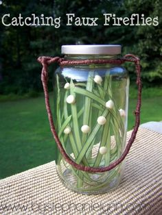 how to make a fake jar of fireflies using glow in the dark paint.