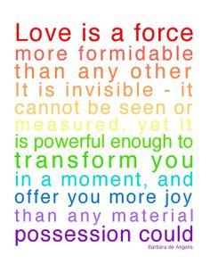Love is a force