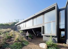 """Chilean seaside house by LAND Arquitectos designed to """"catch views""""."""