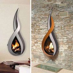 Interesting fireplace - definitely the one on the stone wall.
