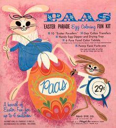 Vintage Paas Easter Egg Coloring Kit packaging. #vintage #Easter #eggs