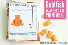 Goldfish Valentine's Day Printable - One Crafty Place