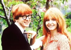Peter Asher (Jane's brother) and Jane Asher (1964)