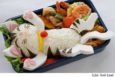 kitty cats, japan, lunch boxes, cat food, box art, bento, kid foods, box lunches, food art
