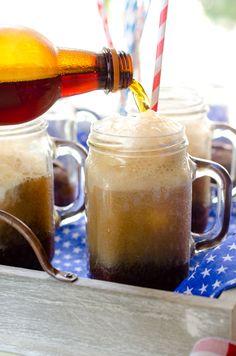 Root Beer Float Brownie Sundaes