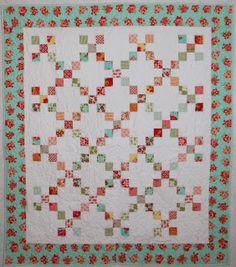 loving this simple 9 batch Irish chain quilt.