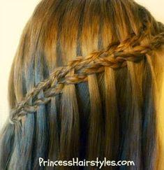 scissor waterfall braid using micro braids