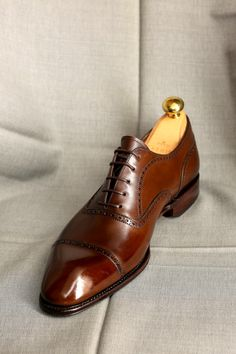 Carmina Brown Punched Captoe Oxford