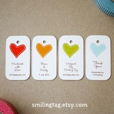 I Heart You Personalised Gift Tags - Wedding Favor Tags - Thank you tags-  Hang tags - Wedding Gift Tag  etsy smilingtag