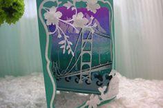 Splitcoaststampers - Tutorials Triangular Diorama card