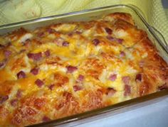 Ham & Biscuit Breakfast Casserole Recipe
