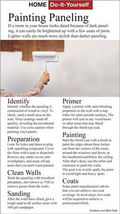 How to paint wood paneling.