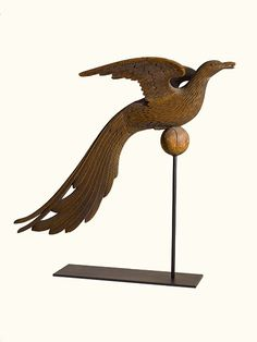 Rare Carved Pine Pheasant Hen Weathervane | Sotheby's