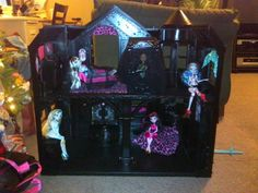 DIY Monster High House used KRYLON FUSION for plastic