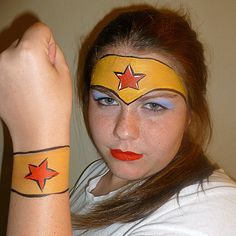 No need to go out and find Wonder Woman's tiara and magic cuffs — just draw them on.