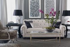 wall colors, interior design, color schemes, formal living rooms, ethan allen, live room, couches, gray wall, ethanallen
