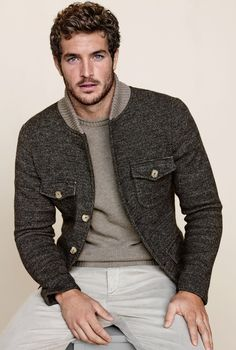 ♂ Masculine and elegance men's fashion casual wear Justice Joslin for Falconeri