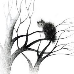 cats on trees on Behance by Elena Lishanskaya