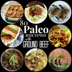 80 Paleo Recipes with Ground Beef #food #paleo #groundbeef