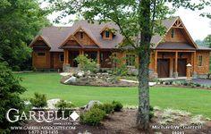 OMG Natahala Cottage 08085, Front Elevation, Rustic Mountain House Plan