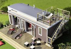 Beautiful 'Small' home (330 Sq Feet-ish) in France. Deck on top is a necessity for any tiny house I build.