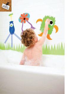 FamilyFun foam bath monsters