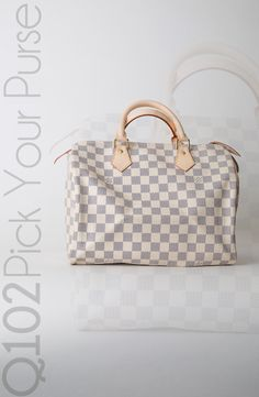 Louis Vuitton - Speedy 30 Damier Azur. Go to wkrq.com to find out how to play Q102's Pick Your Purse!