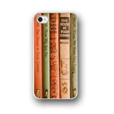 5 cool vintage book cover cell phone cases: Because you're not playing Candy Crush, you're reading, right? iphone 5s, vintage books, iphone cases, iphone 4s, iphon case, cell phone cases, iphone 4 cases, winnie the pooh, classic books