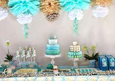 Mermaid themed birthday party! Very cute!