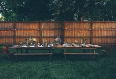 dinner parties, backyard parties