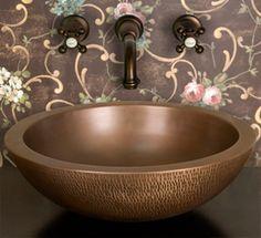 Copper vessel sink