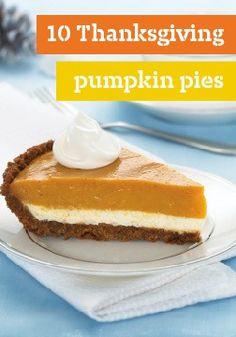 10 Thanksgiving pumpkin pies