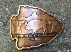 I would run a hundred miles for this buckle.  Yellowstone-Teton 100 Mile Buckle (2012)   Run It Fast