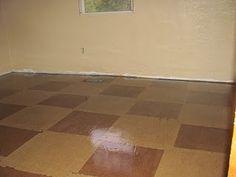 Paper bag floor - do it in squares