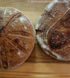 Rustic White, Rye & Spelt Sourdough baked in a La Cloche