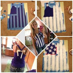 Carrie Easler made this wonderful forth of July shirt!!! I love it!!! Just out of an old tank!