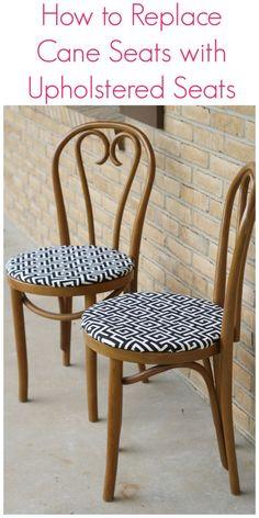 torn cane, upholst seat, cane seat