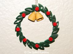 Quilled Wreath  Christmas Ornament by TheQuilledRainbow on Etsy