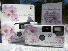 10 Pack Lavender Orchid Wedding Disposable 35mm Cameras in Gift Boxes with Matching Tents 27exp.
