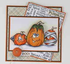 Wobblin' Pumpkins by melindagleiss, via Flickr - What a fun way to use new and classic #Halloween images by #Stampendous