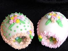 Panoramic Easter Eggs--We had a collection that a church lady made for the children.