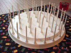 Thread Spool Bobbin Holder Organizer Sewing Room Accessory Rack