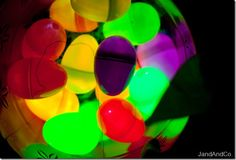 Glow in the dark easter egg hunt - if it ever stops snowing
