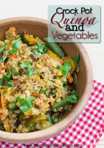 If you're in search of new and unique slow cooker side dishes, this slow cooker quinoa recipe for Slow Cooker Quinoa with Vegetables is a ta...