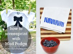 DIY screen printing with Mod Podge
