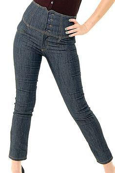 Rockabilly High Waisted Skinny Denim Jeans