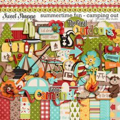 Summertime Fun - Camping Out by Jady Day Studio
