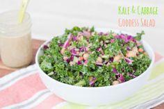 bird food, goddess salad, cabbag salad