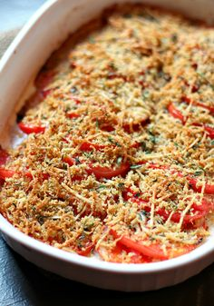 Tomato Gratin is a simple and delicious dish for fall by www ...