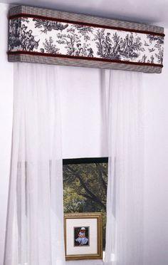 Two fabrics on cornice